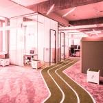 Una pista de atletismo en la… oficina!